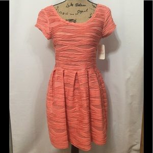 Coveted Clothing Wavy Lined Skater Dress